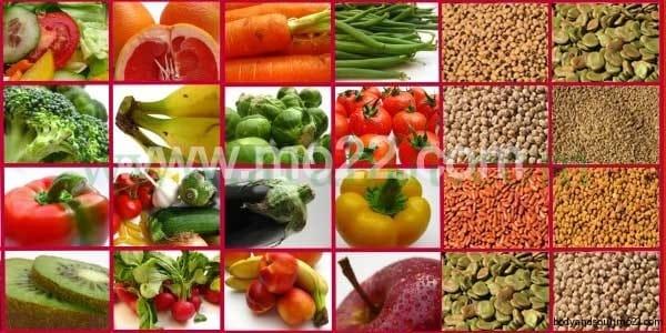 فوائد الخضر والغلال لتغذية جسم الأنسان