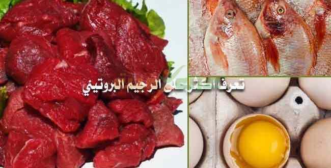 رجيم البروتين او الريجيم البروتيني